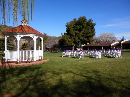 Intimate Wedding Ceremony Setting on the Golf Course