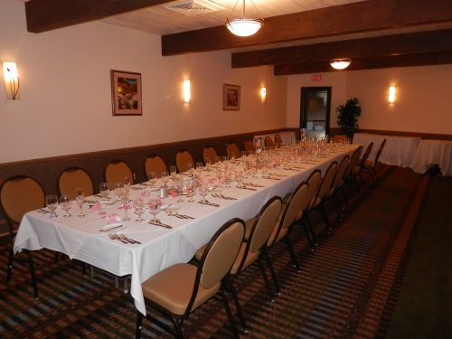 The Sedona Room is set and ready for Sandra and Jon's Wedding Dinner