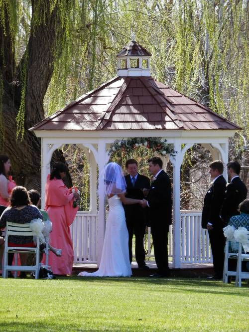 Intimate Wedding Ceremony at the Gazebo