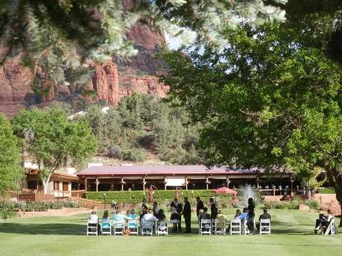 Wedding Ceremony on Golf Course