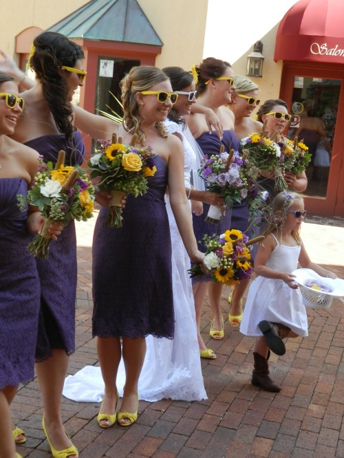 Wedding Colors - Purple and Yellow