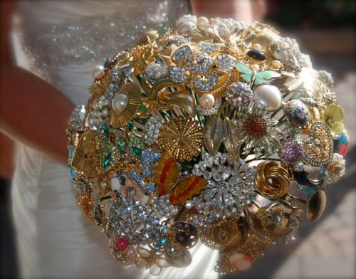 Amazing Brooch Bridal Bouquet Created by Elizabeth and Lisa