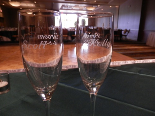 Scott and Kelly's Champagne Glasses