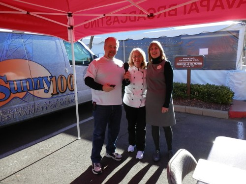 Organizers Donna (center) and Jill with at the Yavapai Broadcasting Live Remote Booth