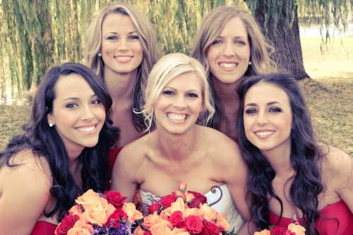 Our Beautiful Bride Megan with her lovely Bridesmaids - Photo by Love My Life Photography