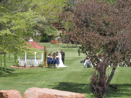 Lovely Wedding Ceremony on the Golf Course