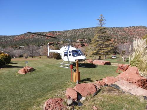 Arizona Helicopter Landing on the Poco Diablo Resort Golf Course