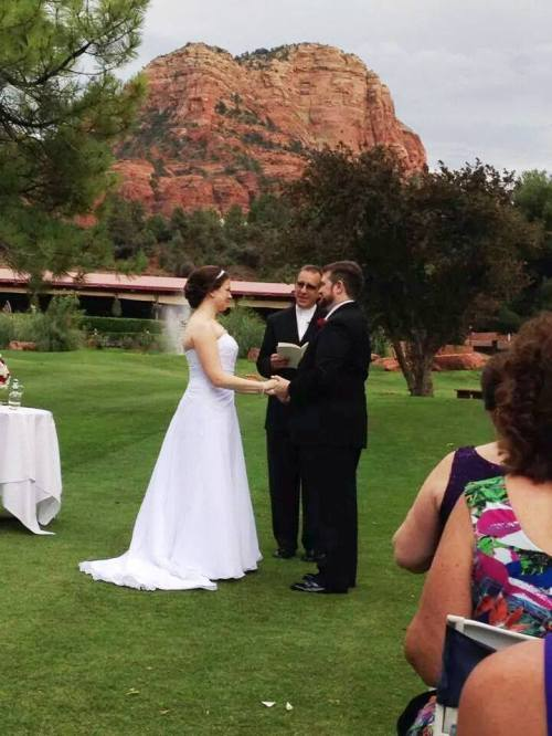 Intimate Wedding Ceremony - Sedona Wedding Officiant Ken Froessel