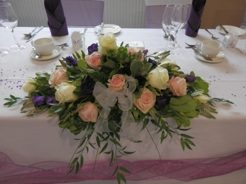 Floral Arrangement on the Head Table