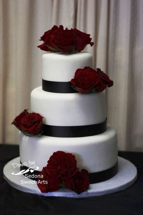 Blanca and Ramon's wedding cake by Donna Joy, Sedona Sweet Arts