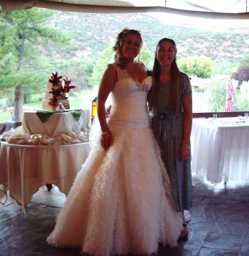 Our lovely bride Katie with Wedding Belle Owner Michelle