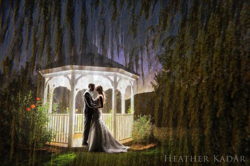 Tracee and Tyler in Love by the Garden Gazebo